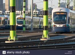 How To Pay For Link Light Rail Link Light Rail In The O M Yard Seattle Washington Usa
