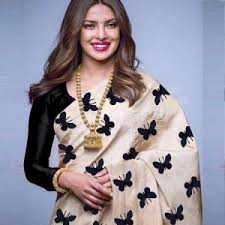 morpich fashion bollywood replica designer printed silk saree code priya li
