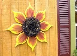 outdoor wall art sunflower wreath