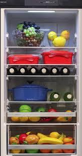 fridge filled with food. gorenje nrk62jsy2b 329l bottom mount fridge filled with food