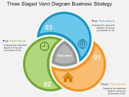 Powerpoint 2010 Venn Diagram Three Staged Venn Diagram Business Strategy Flat Powerpoint Design