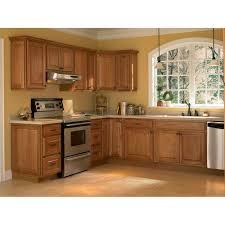 Pantry Kitchen Cabinet ... Hampton Bay Hampton Assembled 18x84x24 In.  Pantry Kitchen Cabinet In Medium Oak KP1884 MO   The Home Depot