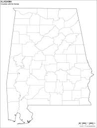 blank alabama county map for kids to color