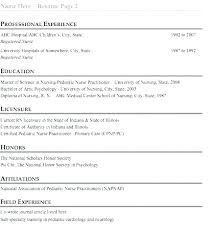 Graduate Student Resume Fascinating New Grad Nurse Practitioner Resume Pediatric Cover Letter Graduate