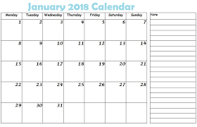 calendar january 2018 template january 2018 calendar template page free design and templates