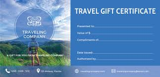 Cruise Gift Certificate Template Vacation Voucher Template Magdalene Project Org