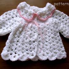 Crochet Baby Sweater Pattern Delectable Crochet Baby Cardigan PATTERN In 48 Sizes From Justpattern On Etsy