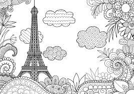 Coloriage Imprimer La Tour Eiffel De Paris Dessin La Tour Eiffel A Imprimer