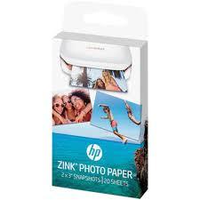 <b>HP ZINK Photo</b> Paper for <b>HP</b> Sprocket <b>Photo</b> Printer (1AH01A) - 20 ...