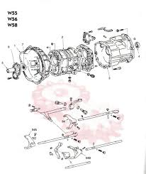 toyota w series manual transmissions pickup tundra tacoma t100 w series parts illustration