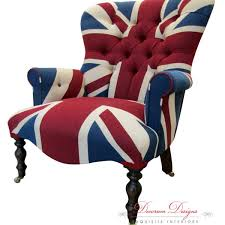 gorgeous bespoke union jack um on back arm chair