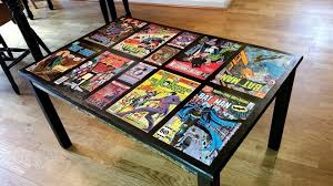 comic book furniture. A Buddy Of Mine Put Together Comic Themed Coffee Table For His As Well Book Furniture E
