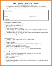 New Employee Forms Checklist