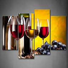 grape wine with cup wall art painting the picture print on canvas food pictures for home decor decoration gift on large wine bottle wall art with large canvas stretched food art amazon