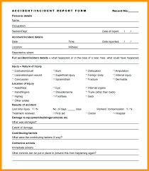 Non Injury Incident Report Template Traffic Form Accident Diagram