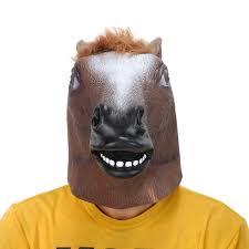 Full Head <b>Mask</b> Horse Head <b>Mask Creepy</b> Fur Mane <b>Latex</b> Realistic ...