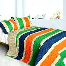 Boys Bedding Quilts – co-nnect.me & ... Blue Green Orange Teen Boy Bedding Full Queen Quilt Set Striped  Colorful Oversized Cotton Bedspread Quilts ... Adamdwight.com
