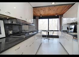 galley kitchen with island
