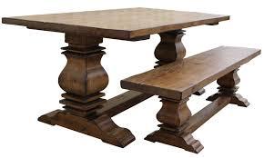 Custom Reclaimed Wood Trestle Dining Room Tables Handmade From - Dining room tables reclaimed wood