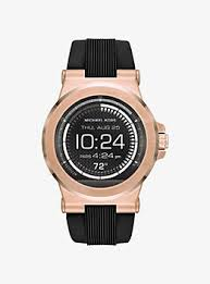 watches for men gold silver tone leather smartwatches dylan silicone rose gold tone smartwatch
