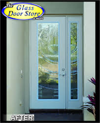 modern glass entry doors. 8 Ft Front Door With Matching Sidelight. Silver Caming In This Modern Glass Insert Entry Doors N