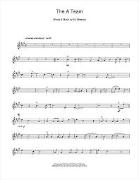 ed sheeran sheet music the a team sheet music by ed sheeran violin 114352