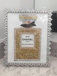 <b>Ornate</b> Vintage <b>Style</b> Framed Chanel No. 5 Perfume Bottle <b>Sparkling</b> ...
