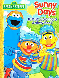 Sesame Street Coloring Activity Book Cover Art And