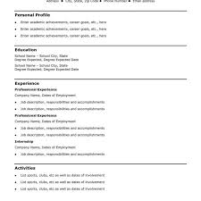 Incredible Design Simple Resume Templates 12 Basic Job Sample Of A