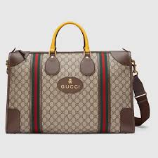 gucci bags for men 2017. soft gg supreme duffle bag with web - gucci men\u0027s bags 459291k5i9t8855 for men 2017