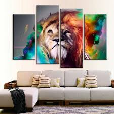 Small Picture Large Lion Animal Canvas Print Oil Painting Wall Picture For