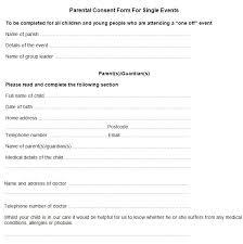 Field Trip Permission Letter Parent Consent Form Template