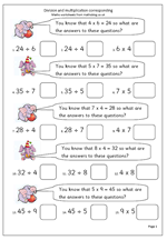 Free maths worksheet: Division and multiplication corresponding ...Free maths worksheet: Division and multiplication corresponding