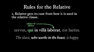 The Relative Pronoun Qui Quae Quod