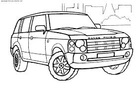Les Transports Coloriages Coloriage De Voiture Land Roverll