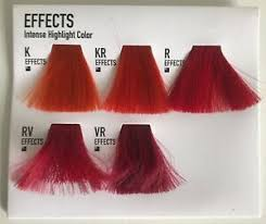 Details About Goldwell Effects Intense Highlight Colour Chart Sample