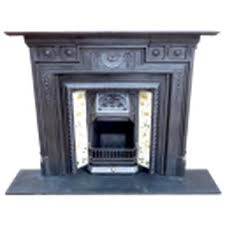 cast iron fireplace surround vintage round designs