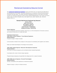 Engineering Resume Format Download New Mechanical Engineering Resume