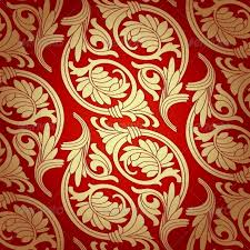 Damask Seamless with Baroque Ornaments by Sam2211 GraphicRiver