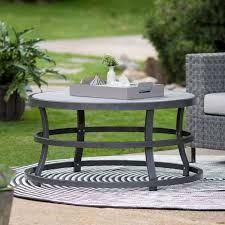round concrete top dining table lovely concrete dining table outdoor awesome coffee tables rowan od small