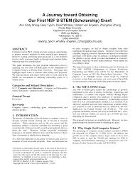 Pdf A Journey Toward Obtaining Our First Nsf S Stem