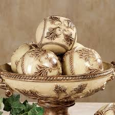 Decorative Bowls With Orbs Decorating Vinelle Decorative Orbs In Cream And Luxury Theme For 42