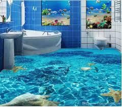 Simpsons Wallpaper For Bedroom Classic Home Decor Seawater Toilet Bathroom Bedroom 3d Floor Floor