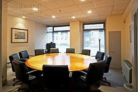 a145 00119 office meeting room with round table construction rh constructionphotography com round conference room table
