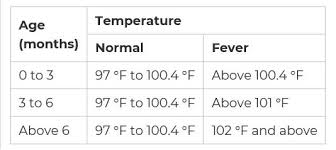 Baby Fever Newborn Baby Fever Temperature Chart