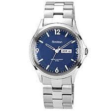 men s watches men s timepieces sears armitron men s silver tone link bracelet watch w blue dial day date