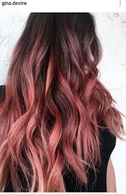 Peach Rosegold Balayage Hair Hair Barevné Vlasy Barvené Vlasy A