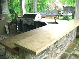 outstanding outdoor kitchen concrete countertop outdoor