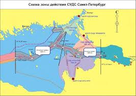 vts services Схема зоны действия СУДС Санкт Петербург