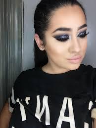 prom 2k16 smoky eye black dress makeup